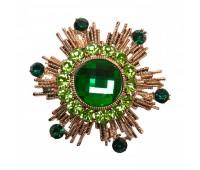 Брошь-орден в гвардейском стиле с цветными кристаллами 200300