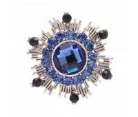 Брошь-орден в гвардейском стиле с цветными кристаллами 200302