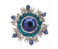 Брошь-орден в гвардейском стиле с цветными кристаллами 200303