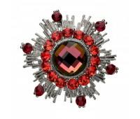 Брошь-орден в гвардейском стиле с цветными кристаллами 200304