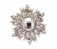 Брошь-орден в гвардейском стиле с цветными кристаллами 200305