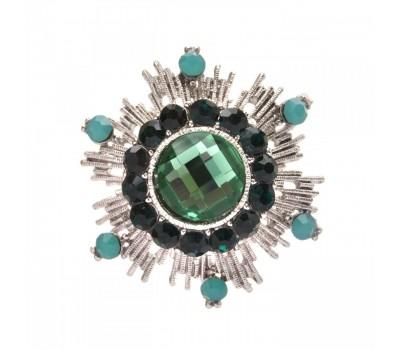 Брошь-орден в гвардейском стиле с цветными кристаллами 200306