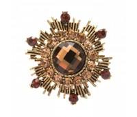 Брошь-орден в гвардейском стиле с цветными кристаллами 200307