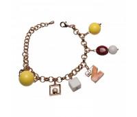 Оригинальный браслет с шармами из эмали и пластика 200331
