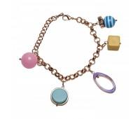 Оригинальный браслет с шармами из эмали и пластика 200333