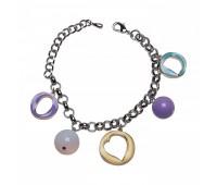 Оригинальный браслет с шармами из эмали и пластика 200334