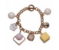 Оригинальный браслет с шармами из эмали и пластика 200336